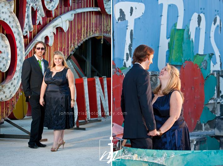 Las Vegas Neon Boneyard Engagement Session